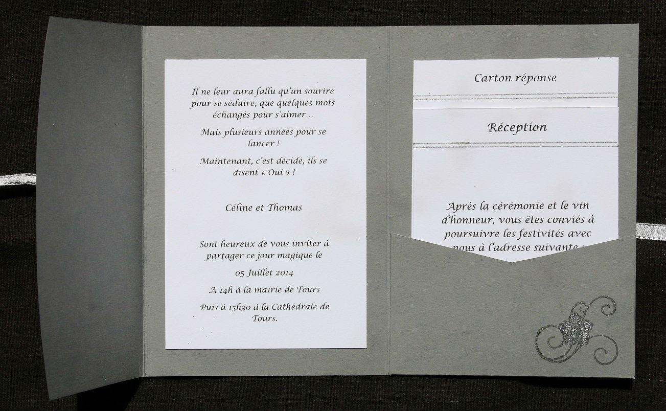 Exceptionnel Faire-part de mariage Pocketfold - Boutique mon-faire-part.wifeo.com KV99